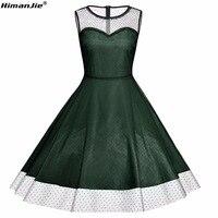 Himanjie Plus Size Elegant Ladies Formal Dresses Lace Dress Cocktail Dress Knielanges Vintage 50s Wedding Party