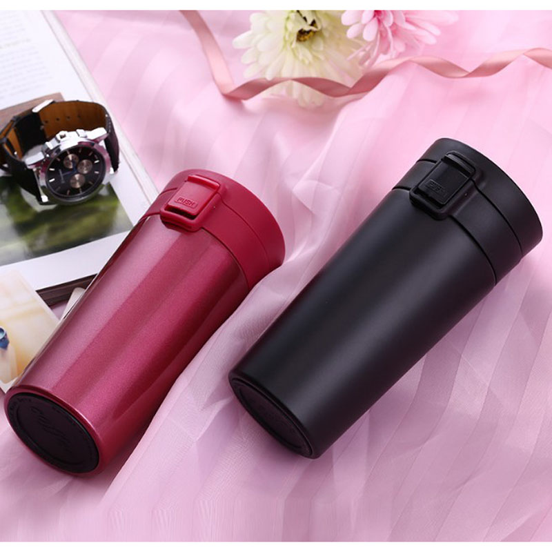 Double Wall Stainless Steel Vacuum Flasks 380ml Car Thermos Cup Coffee Tea Milk Travel Mug Thermol Bottle Office Thermocup Mugs