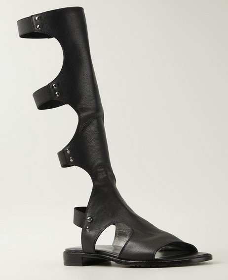 35 - 41 женщины гладиатор медный купорос ремешками прорезиненная тесьма slingback настоящее кожа открытый носок лежа пятки сандалии колено высокая сапоги