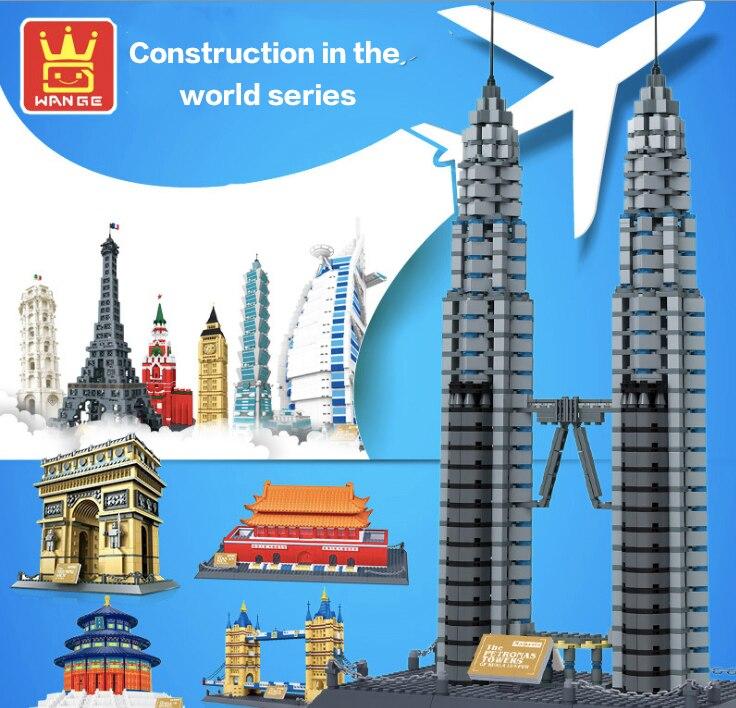 Famous Building Eiffel Tower Kremlin Blocks DIY Toys Children's Birthday Present Intelligence Changeable Creative Plaything цена 2017