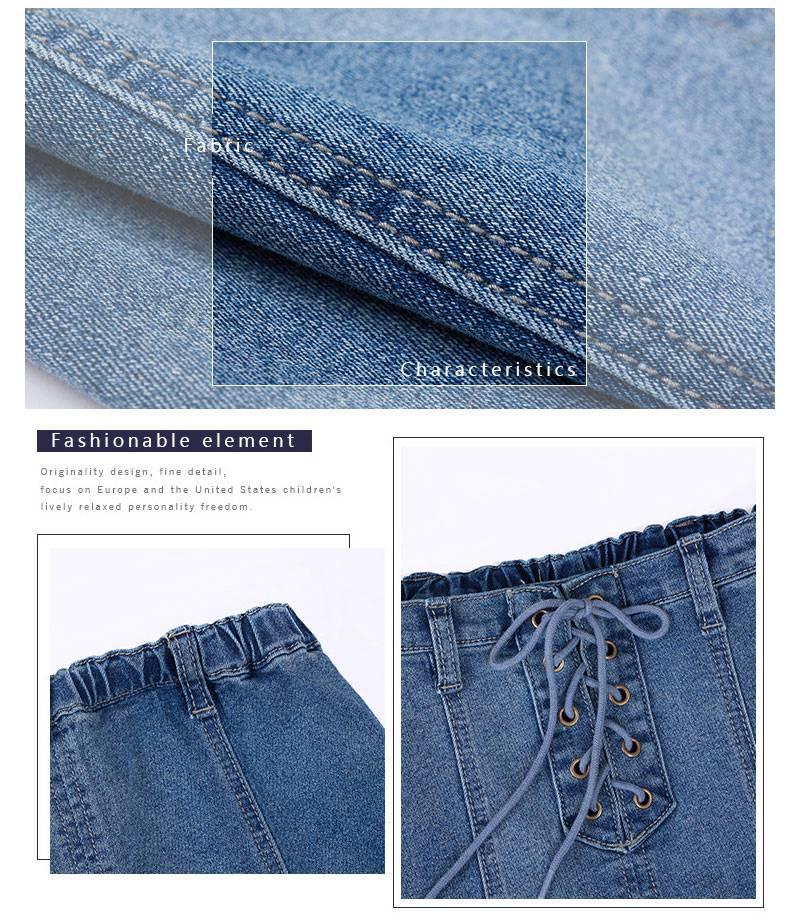 girls jeans skirt G2078-12
