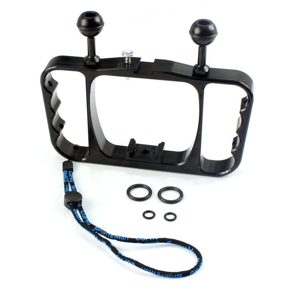 Prix pour En aluminium Plongée Photographie Support pour GoPro Hero 4/3 +/3/2/SJ4000/SJ5000/4 session Xiaomi yi Camera Action Plongée Accessoires