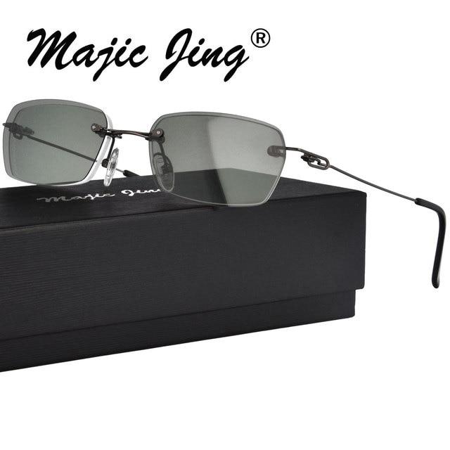 57bdf654858 Metal Glasses Clip on Eyeglasses Rimless for Men Good Quality Clip On Sunglasses  Myopia Eyewear H8302