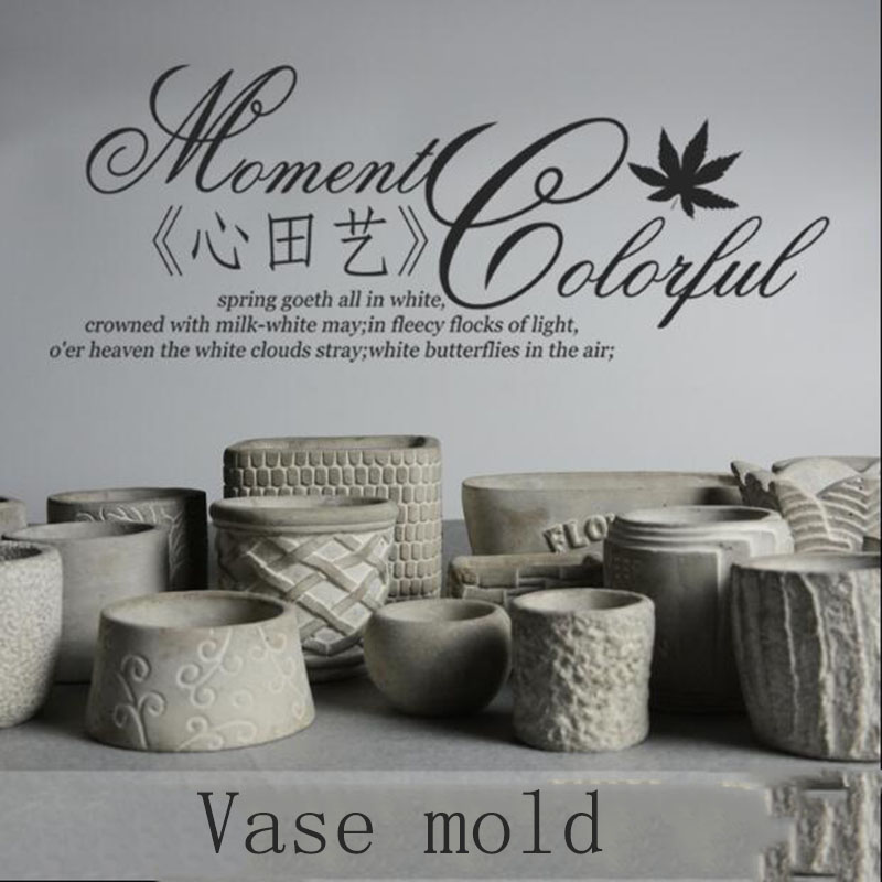 Plantas suculentas moldes de potes Molde de concreto de silicone Molde de argila molde de concreto de plantador