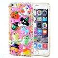 6 s caso 3D de cristal Bling do brilho de diamante de natal Halloween Pumpkin crânio capa para iphone 6 6 s 6 splus 5c 5S 5se 4 4S