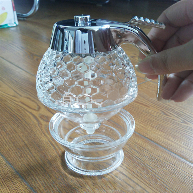 Honey Dispenser Jar Container Cup Juice Syrup Kettle