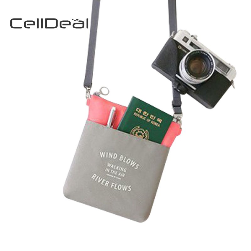 9b56a184834 CellDeal Simple Travel Canvas Purse Fashion Mini Oxford Cloth Small Cloth  High Quality Shoulder Bag Phone Bag Crossbody Wallets-in Wallets from  Luggage ...