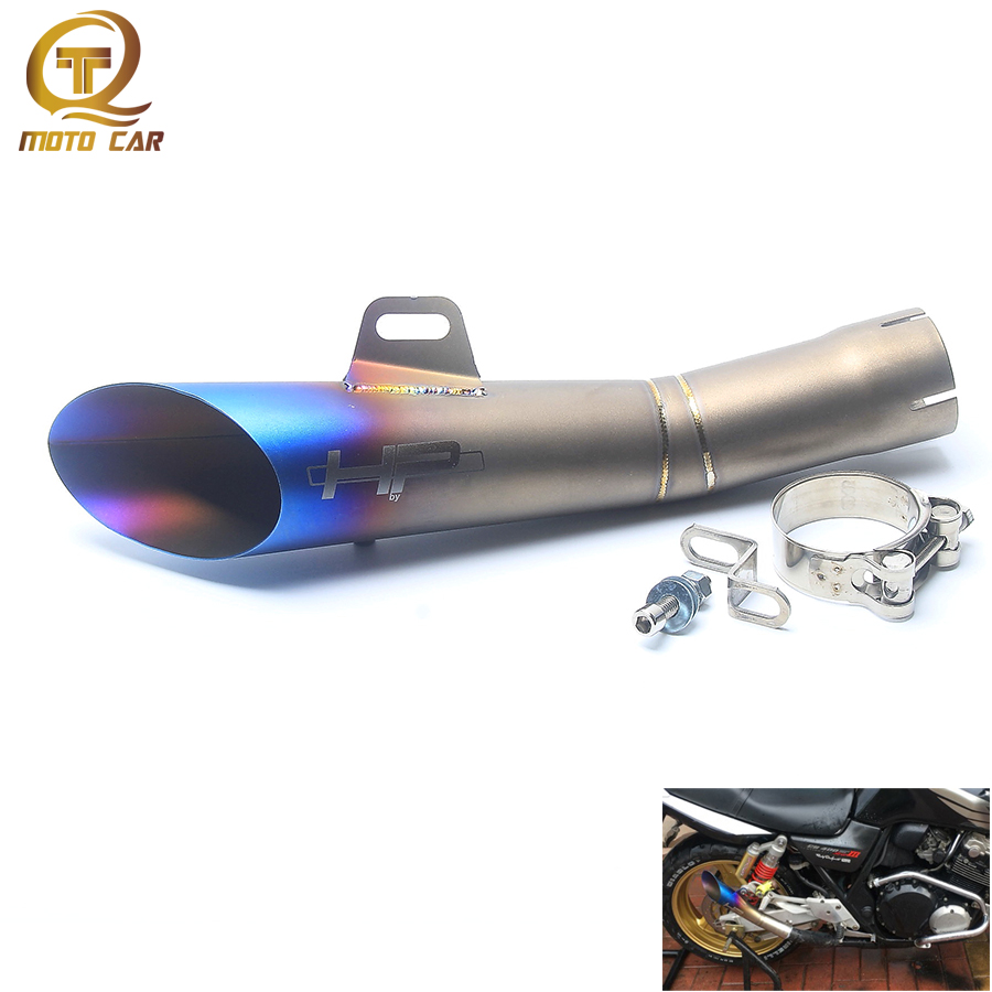 Motorcycle Exhaust GP/HP Muffler Clamp 52MM Escape Moto Escape Pipe For Yamaha YZF-R6 Exhaust Cafe Exhaust racer Kawasaki R6 GP