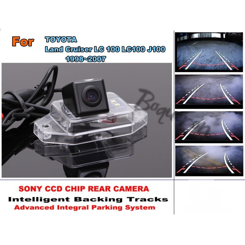 CCD For TOYOTA Land Cruiser LC 100 LC100 J100 1998~2007 / Intelligent Car Parking Camera with Tracks Module / Rear Camera