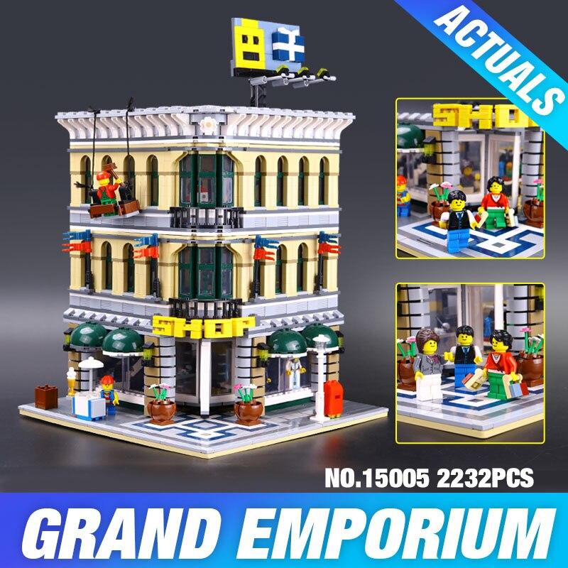 ФОТО LEPIN 15005 Presale 2182pcs City  Grand Emporium Model Building Blocks Kits Brick Toy Compatible Educational toys 10211