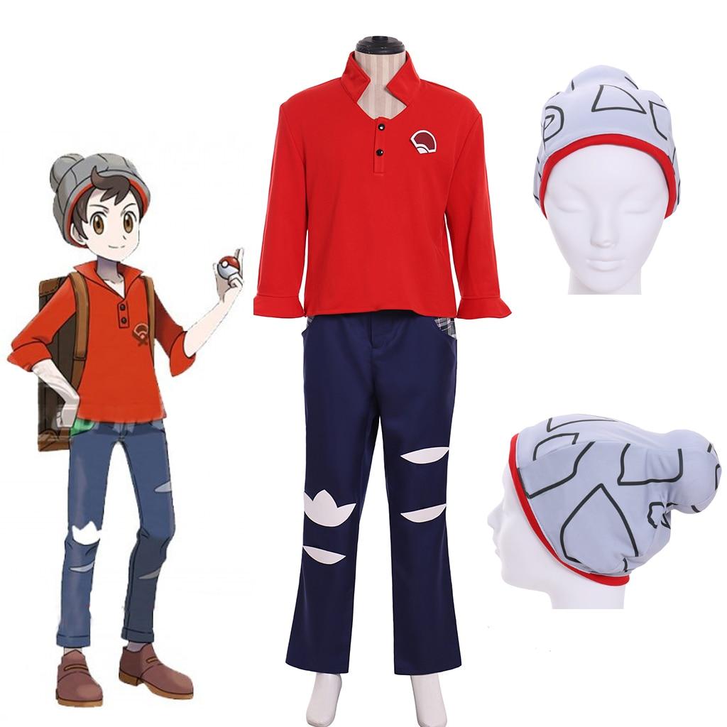 Cosplaydiy Anime Pokemon épée et Pokemon bouclier mâle formateur Cosplay Costume adulte fantaisie école Costume décontracté livraison gratuite L320