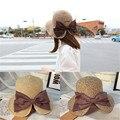 Hembra Shi Mini diseño grande tejidas a mano del bebé sombrero para el sol, gorra de béisbol sombrero girls summer sun sombrero de paja