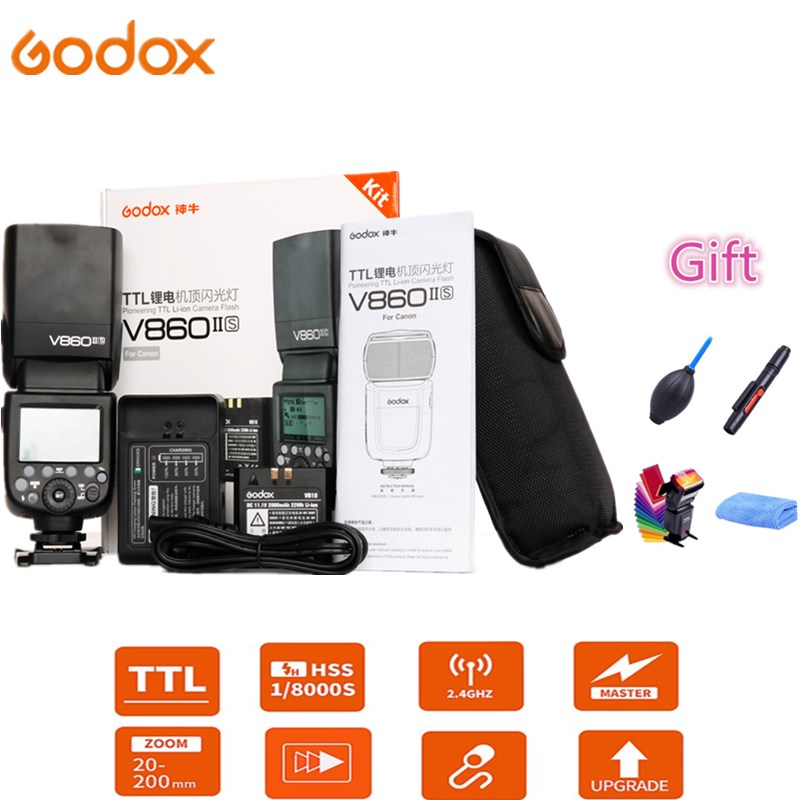 Godox Ving V860II-S V860II-N V860II-C V860II-F V860II-O Flash Speedlite TTL HSS Li-Battery For Sony Nikon Canon Olympus Fujifilm