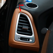 3pcs red car air conditioner switch cover for jeep wrangler 2008 2014 auto air conditioner button ring interior car styling For Honda HR-V HRV 2014-2017 ABS LHD Car Air Conditioner Outlet Vent Covers Decoration Garnish Auto Cover Protector Styling 4pcs