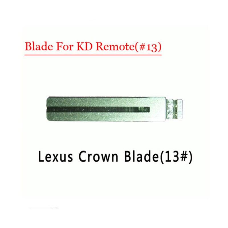 Free shipping (10 pcs/lot)Metal Blank Uncut Flip KD Remote Key Blade Type #13 for Lexus Crown free shipping 1piece 2 button remote key mit11 uncut blade with 46 chip 433mhz for mitsubishi
