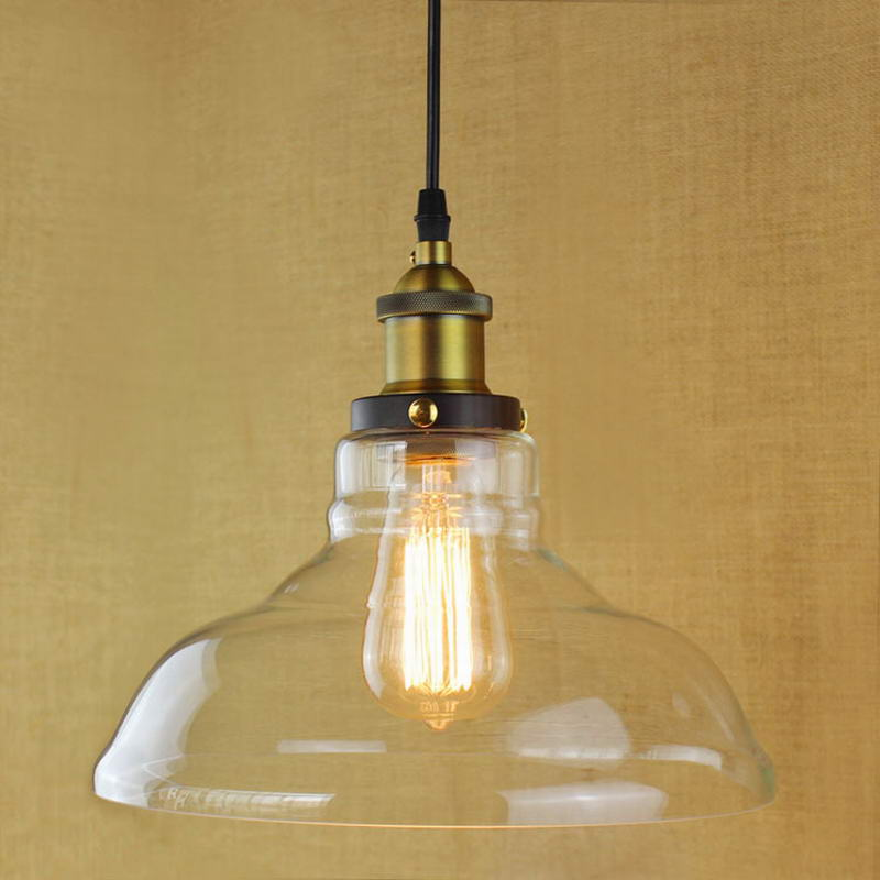 Retro Vintage Industrial Style Edison bulb Glass pendant lighting for kitchen Restaurant Cafe Decoration vintage loft industrial edison flower glass ceiling lamp droplight pendant hotel hallway store club cafe beside coffee shop