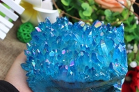 1389 grams of natural quartz crystal skull blue angel sculpture A895