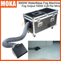 Big size flightcase 3000W Water base Fog Machine DMX Remote Control Water Smoke Stage Effect Low Lying Water Fog Smoke Machine