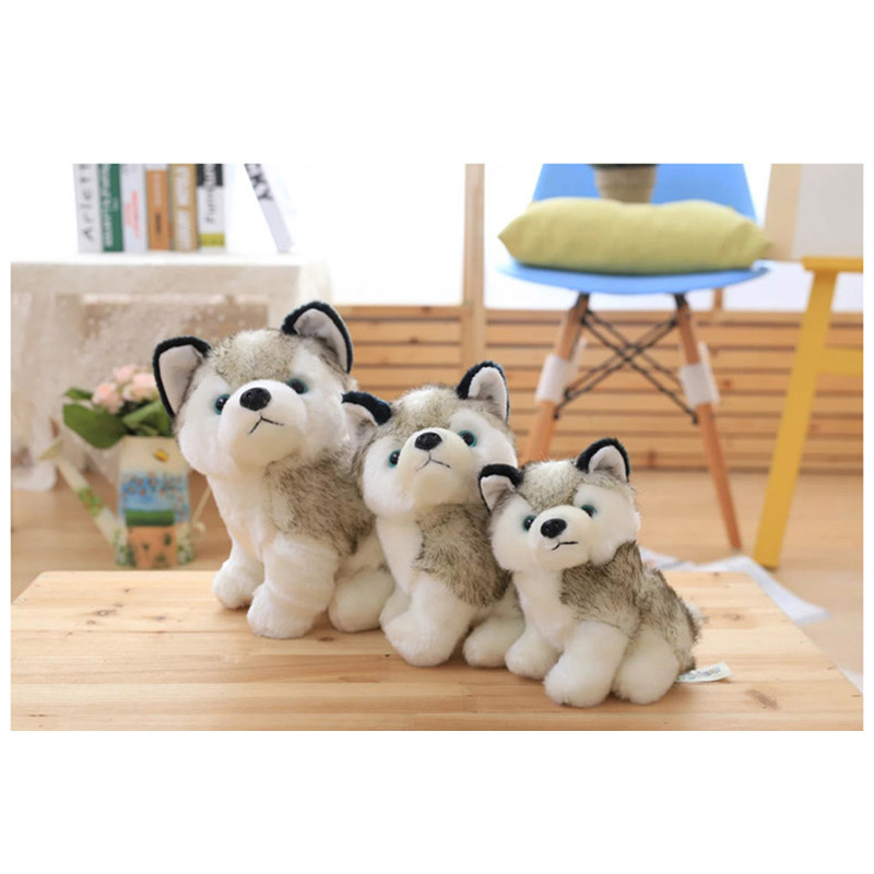 цена на Cute Husky  Comfort Plush Toy , 18/22/28cm Dog Dolls For Baby Kids Toy , High Quality Cotton Brinquedos Baby As Gifts