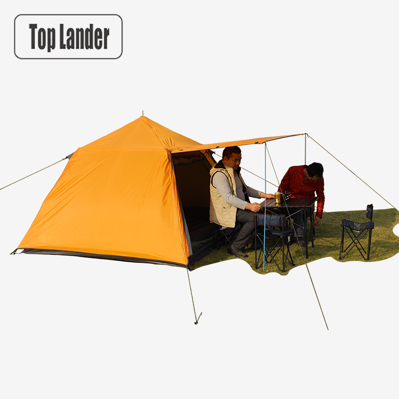 Automatic Outdoor Camping Tent 3 Persons 4 Person Waterproof Double Layer Tent Foldable Quick Opening 3 Season Hiking Travel outdoor camping hiking automatic camping tent 4person double layer family tent sun shelter gazebo beach tent awning tourist tent