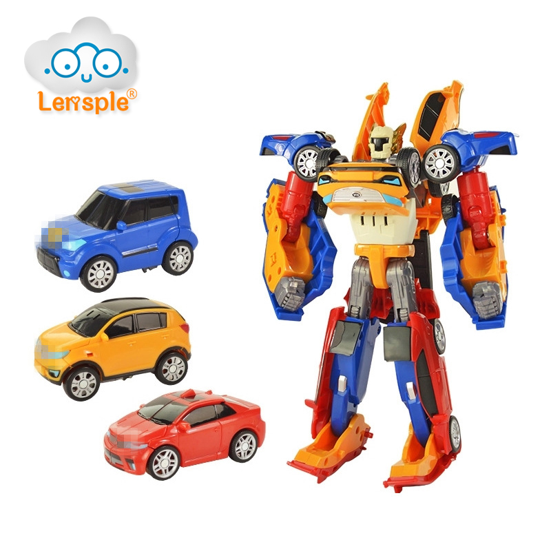 Lensple New 3 In 1/2 In1 Transformation Robot XY Deformation Action Figure Merge Car Model Set Childrens Toy