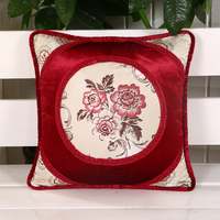 Wholesale New Design Hot Fashion 45 45cm Square Adult Embroidered Cushions Home Car Sofa Office Seat