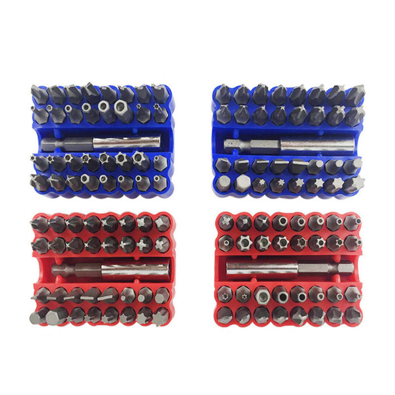 High Quality 33pcs Hollow Screwdriver With Hole Solid Electric Head Hex Tools Puntas De Destornilladores Multi-function Torx