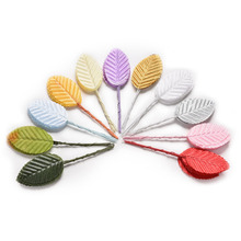 high simulation leaves silk stocking flower Artificial scrapbooking party decoration 10pcs/pack
