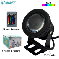 RGB RGBW RGBWW LED Underwater Light 10W Waterproof Swimming Pool Light Submersible Spotlight Pond LED Sliver