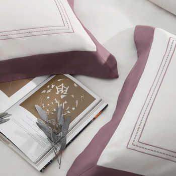 ผ้าฝ้ายอียิปต์สีขาว Queen King ชุดเครื่องนอนโรงแรมเตียงแผ่นแผ่นเตียงผ้านวม parrure de lit ropa/ juego de cama