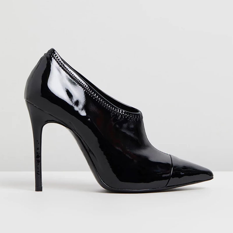Pointu Mince À En on Ty01 Verni Haute 2019 Slip Dames Super Coudre Sexy Chaussures Mode Talons Bout Cuir Noir Leisuree Femme Pompes Solide Ow4vfq