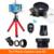 7in1 kit de lentes de teléfono hd gran angular 0.45x lente gran angular para iphone 6 6 s 7 plus xiaomi 12.5x remoto trípode macro lentes con clips