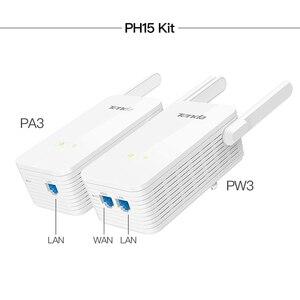 Image 5 - 1 пара Tenda PH15 1000 Мбит/с Powerline Ethernet адаптер, беспроводной WIFI удлинитель, PLC сетевой адаптер, IPTV, Homeplug AV, Plug and Play