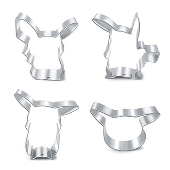 kawaii pikachu stainless steel cookie cutters and party cookie baking molds kitchen tool