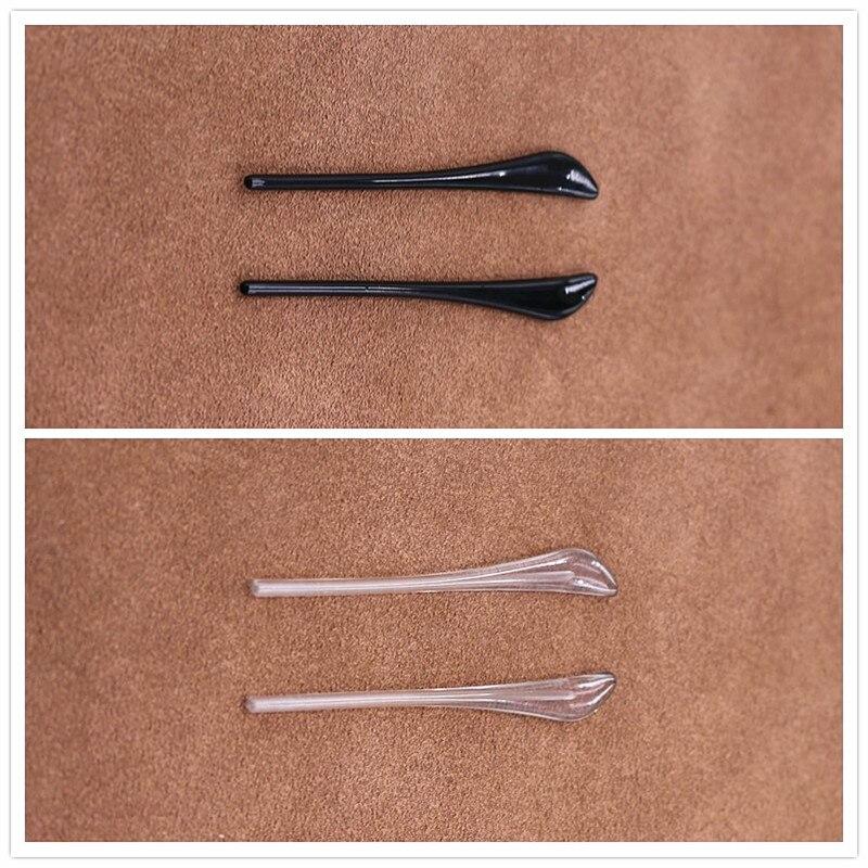 COLOUR_MAX   Black And Clarity  Glasses Leg Anti Slip Slim Hole Eyeglass Holder Clamp Sleeve