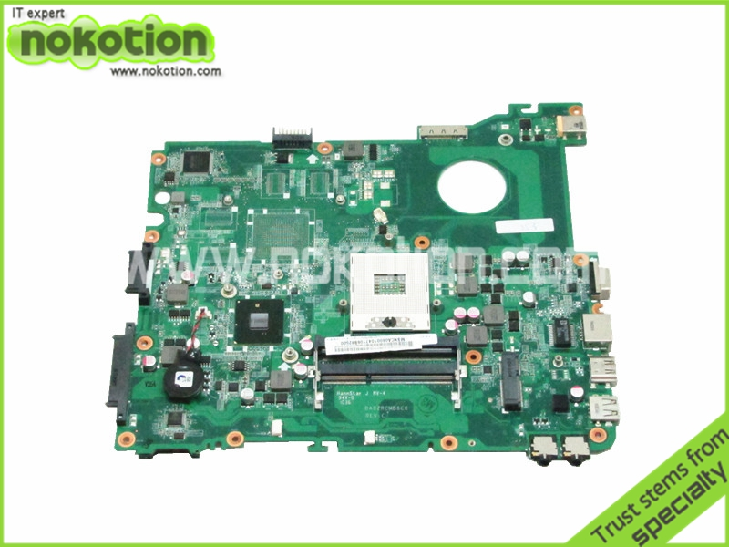 Original laptop Motherboard Main Board for ACER eMachines E732 MBNCA06001 DA0ZRCMB6C0  HM55 DDR3 motherboard for acer aspire 7339 7739 emachines e729 e729z mbrn60p001 08n1 0nx3g00 aic70 main board 100% tested good