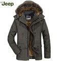 AFS JEEP homens e casuais longo-quentes de mangas compridas jaqueta de algodão quente homens da moda confortável tamanho grande casaco de inverno dos homens 4 cores 188