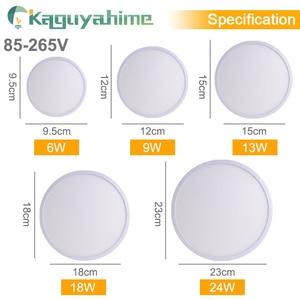 Image 2 - Kaguyahime LED ضوء السقف 36 W 24 W 18 W 13 W 9 W 6 W أسفل ضوء سطح جبل مصباح لوحة 85 265 V الحديثة UFO مصباح المنزل إضاءة زينة