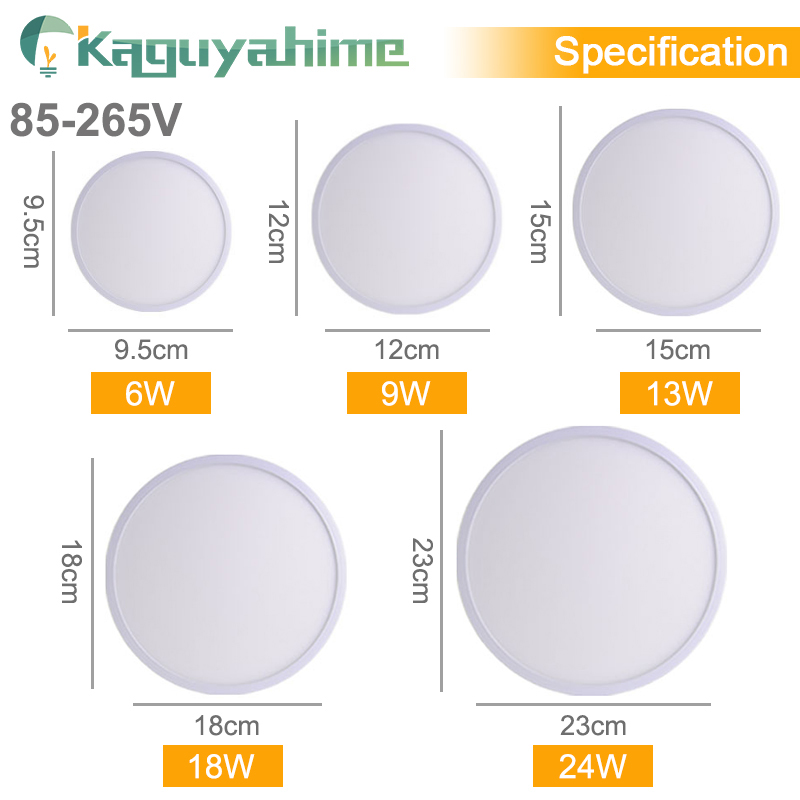 Kaguyahime LED Ceiling Light 36W 24W 18W 13W 9W 6W Down Light Surface Mount Panel Lamp 85 265V Modern UFO Lamp Home Decor Light in Ceiling Lights from Lights Lighting