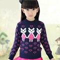 2016 Mola & Inverno Natal Das Meninas Camisola de Algodão t-shirt Crianças Dos Desenhos Animados Coelho Roupas Camisola Do Bebê Da Menina roupas de Impressão