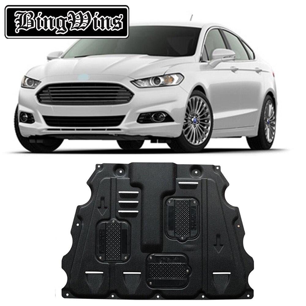 Styling de voiture Pour Ford Mondeo en acier en plastique garde moteur Pour Ford Fusion Ford Mondeo 2013-2017 plaque de protection Du Moteur fender 1 pc