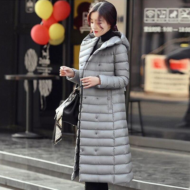 Ultra Longue Noir Duvet Parka Chaud D'hiver Outwear Le Femmes vert Vers Élégant Canard argent Blanc pourpre Femelle léger Manteau Nouvelle 2018 Veste De Bas Rqw7Tqx