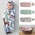 2 Unids Bebé Recién Nacido Swaddle Wrap Manta Sleepsack Dormir Swaddles Infantil s Ropa de Cama de Algodón 0-12