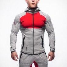 Осенние мужские толстовки и олимпийки пуловер куртка Бодибилдинг Фитнес Спортивный костюм тонкий мышцы Спортивная одежда для мужчин