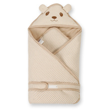 Bear Lion Spring Summer Organic Cotton Quilt Newborn Baby Swaddle Blanket 80cm * 80cm Cotton Baby Sleeping Bag