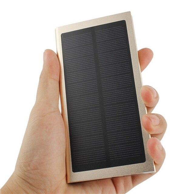 Универсальный 8000 мАч Dual USB Порт Power Bank 5 В 2A Солнечной панель Внешнее Зарядное Устройство Power Bank Для Samsung Мобильный телефоны
