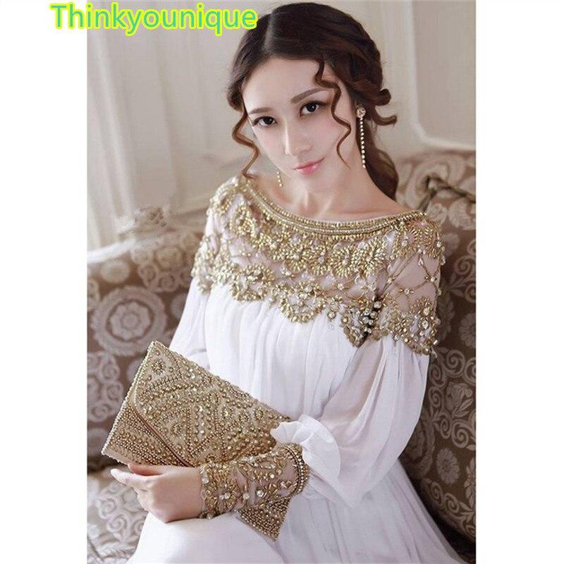 2019 new fashion luxury heavy beaded chiffon fancy dubai women kaftan abaya   evening     dress   elegant long brand prom   dress   TK148