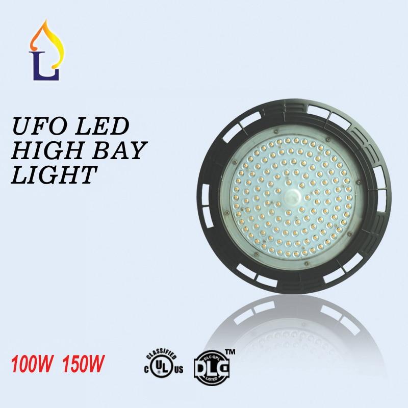 5db / tétel UL DLC led UFO magas öböles fény 100W / 150W ipari lámpa ip65 AC100-277V 5 éves garancia magas bay világítás vezetett