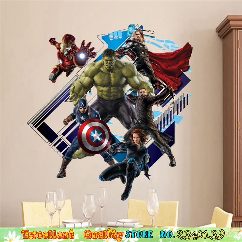 Captain America Wall Decal Sticker Chambre Vinyle Enfants