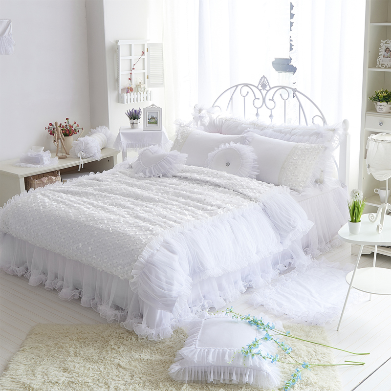 Lace Princess 100 Cotton Bedding Set Comforter Duvet Cover